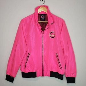 LA Gear x Forever 21 Jacket Hot Pink Neon Retro 1X